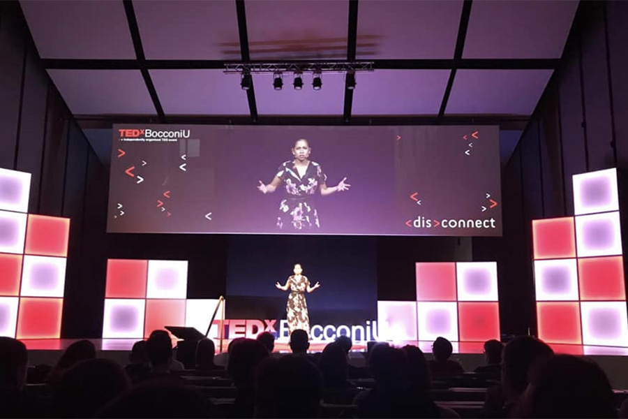 Aida Loggiodice '17 speaking at TEDx