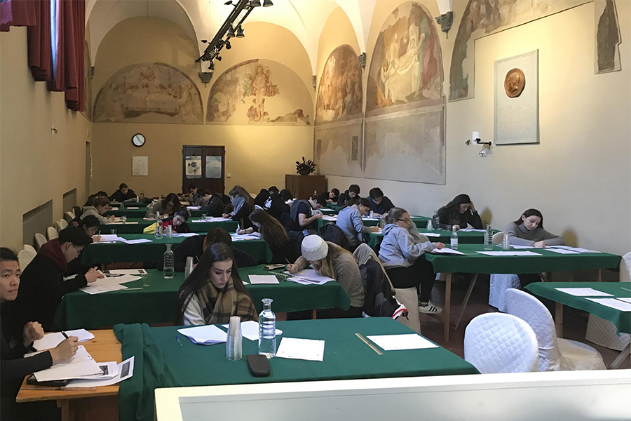 All TASIS students in the second year of the IB Diploma Program spend five  days preparing for their exams at a historic monastery in Siena, Italy.