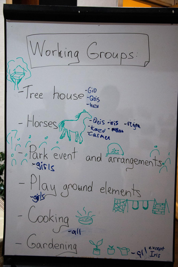 Working group assignments