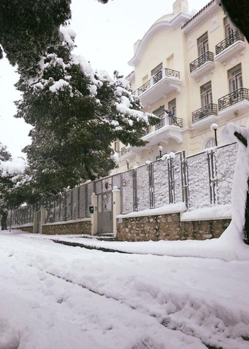 TASIS Helenic with snow
